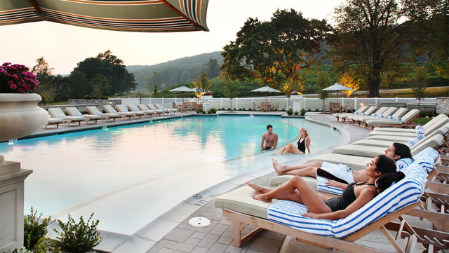 Outdoor pool at Omni Bedford Springs Resort.