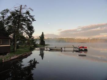 Fishing at Evergreen Lodge.