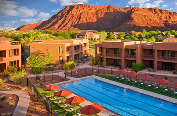 Outdoor pool at Red Mountain Resort.