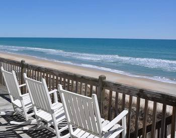 Rental porch view at Topsail Realty.
