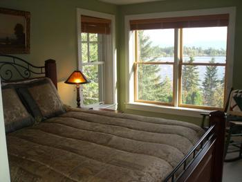 Rental bedroom at Lake Placid Accommodations.