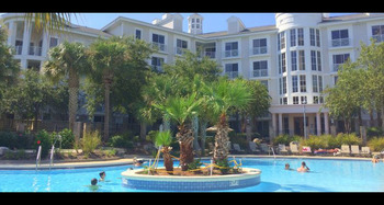 Rental outdoor pool at SkyRun Vacation Rentals - Destin, Florida.