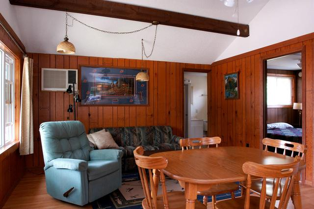 Cabin interior at Ottertail Beach Resort.