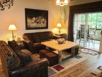 Guest living room at Vickery Resort On Table Rock Lake.