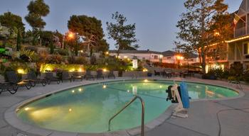 Outdoor pool at Clarion Carriage House Inn Del Mar Inn.