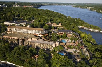 Aerial view of The Lodge of Four Seasons.