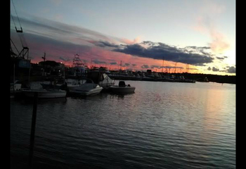 Sunset at Harbour Inne and Cottage.