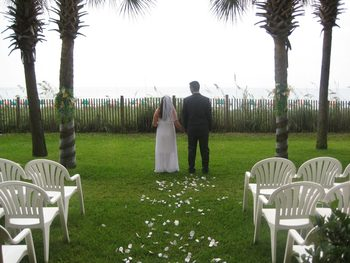Wedding ceremony at Ocean Reef Resort.