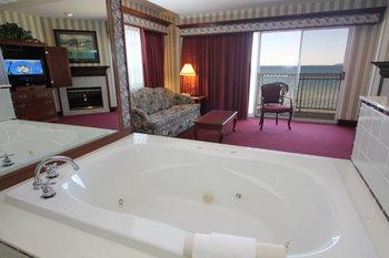 Guest room at Bayshore Resort.