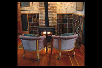 Guest sitting area at Abe's Spring Street Guest House.