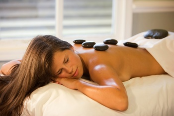 Hot stone massage at Elk Ridge Resort.