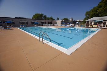 Outdoor pool at Best Western Lehigh Valley Hotel and Conference Center.