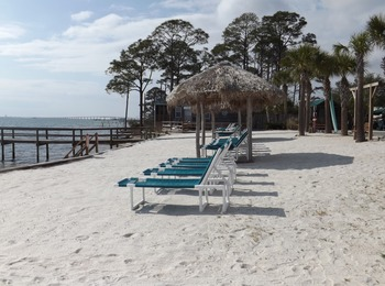 The beach at Navarre Beach Campground.