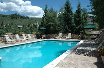 Outdoor pool at The Borders Lodge.