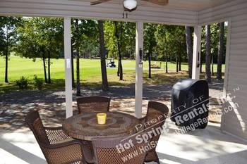 Rental patio at Hot Springs Village Rentals.