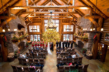 Wedding ceremony at The Whiteface Lodge.