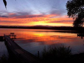 September sunset at Two Inlets Resort.