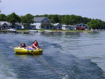 Water tubing at Auger's Pine View Resort.