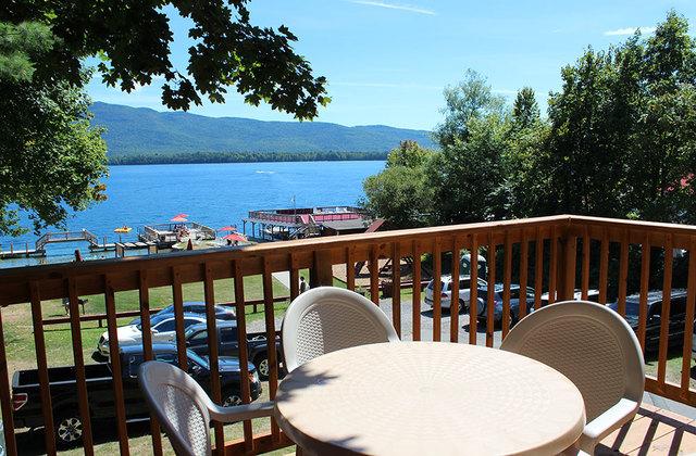 Guest deck at Flamingo Resort.