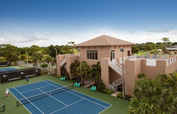 Tennis court at Club Med Sandpiper.