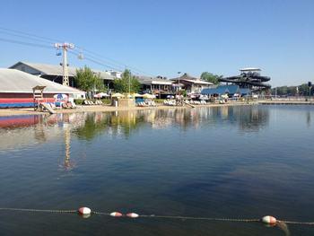 Lake view at Indiana Beach Amusement Resort.
