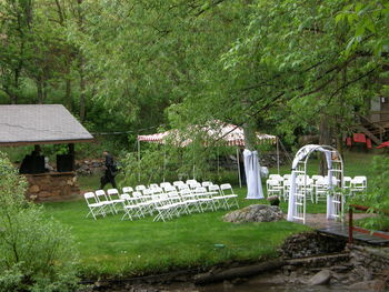 Wedding ceremony at Boulder Mountain Lodge.