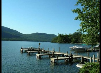 Docks at Northern Lake George Resort.
