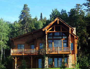 Luxury cabins at Teton Springs Lodge.