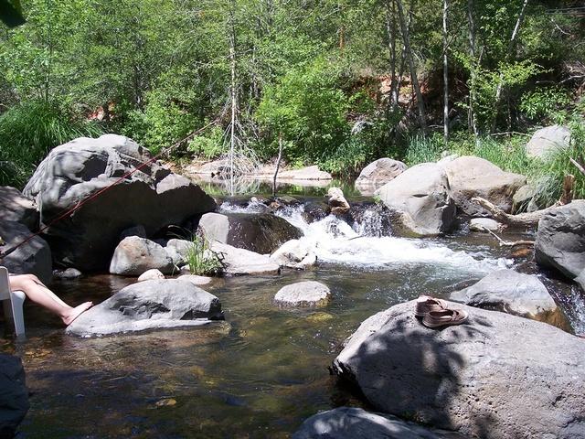 River view at Old Creek Resort.