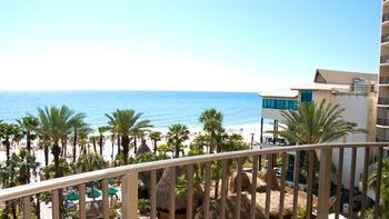 Beach view at Holiday Inn Resort.