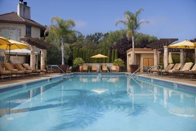 Outdoor pool at Villagio Inn and Spa.