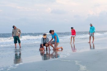 Beach activities at Lodge on Little St. Simons Island.