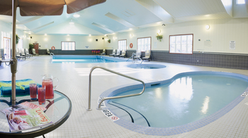 Indoor pool at Carriage Ridge Resort at Horseshoe Valley.