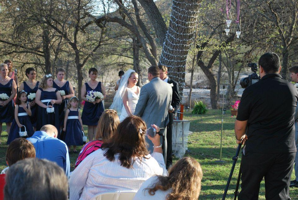 Wedding at Criders Frio River Resort.
