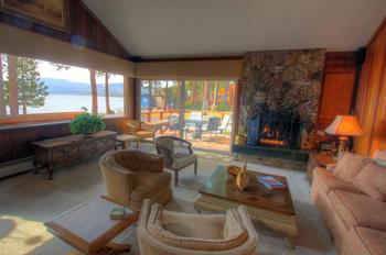 Vacation rental living room at Vacasa Rentals Lake Tahoe.
