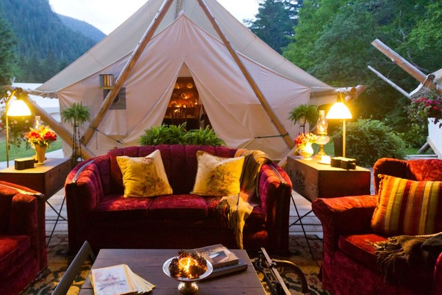 Lounge Area at Clayoquot Wilderness Resort