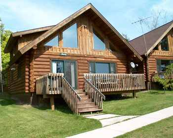Cabin exterior at Norway Point Resort and Conference Center.