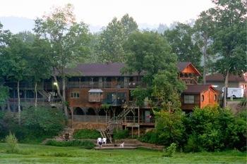 Exterior view of River's Edge Resort.