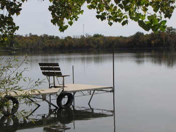 Fishing dock at Mill Lake Resort.