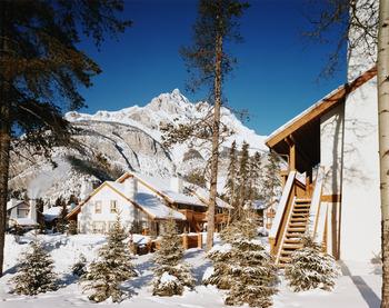 Exterior view of Banff Rocky Mountain Resort.