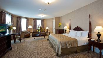 Premium guest room at French Lick Resort.
