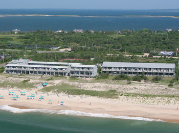 Aerial view of Ocean Vista Resort.