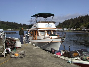Fishing at Alert Bay Resort & Marine Charters.