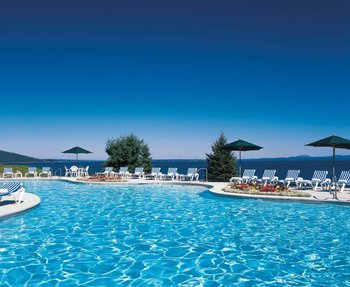 Outdoor Pool Area at Bar Harbor Regency