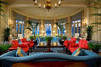 Main lobby at The Otesaga Resort Hotel.