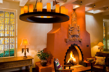 Fireplace Area at La Fonda on the Plaza
