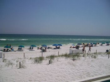 Enjoy the beach at Sandpiper Cove.