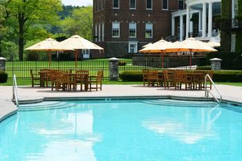 Outdoor pool at The Otesaga Resort Hotel.