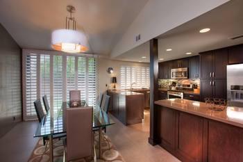 Villa kitchen at Sundance Villas.