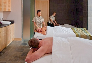 Spa massages at La Torretta Lake Resort.